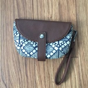 American Eagle Leather Wristlet
